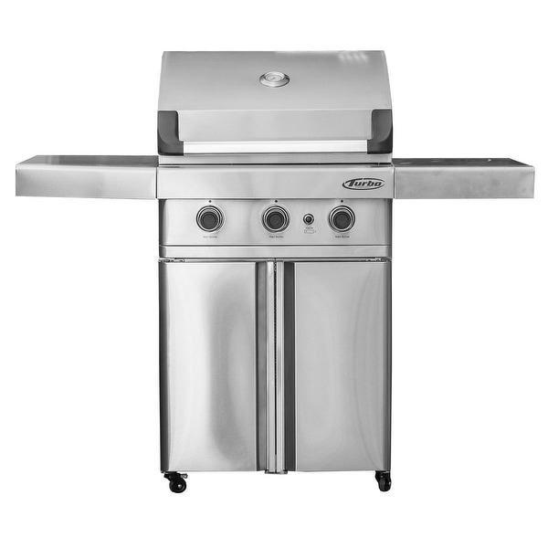 Barbeques Galore 2017 Turbo 3 Burner Freestanding Gas Grill