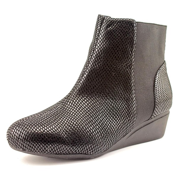 J. Renee Kareenatoo Round Toe Synthetic Ankle Boot