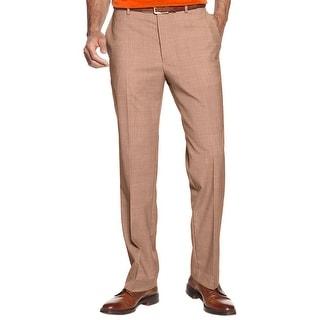 Nautica Travelwear Mast Dress Pants 36W x 29L Tan Sharkskin Flat Front