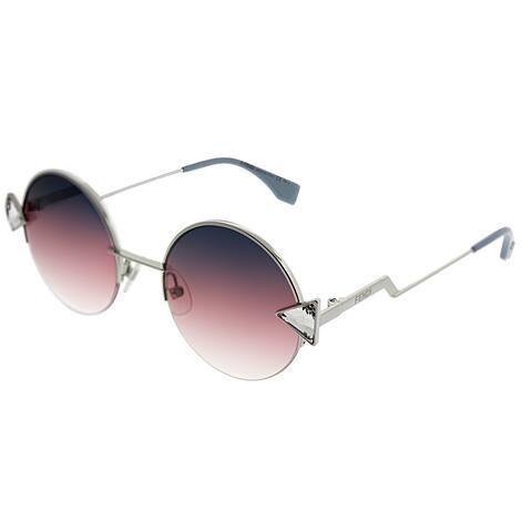 Fendi Rainbow FF 0243 TJV FF Womens Silver Frame Purple Gradient Lens Sunglasses