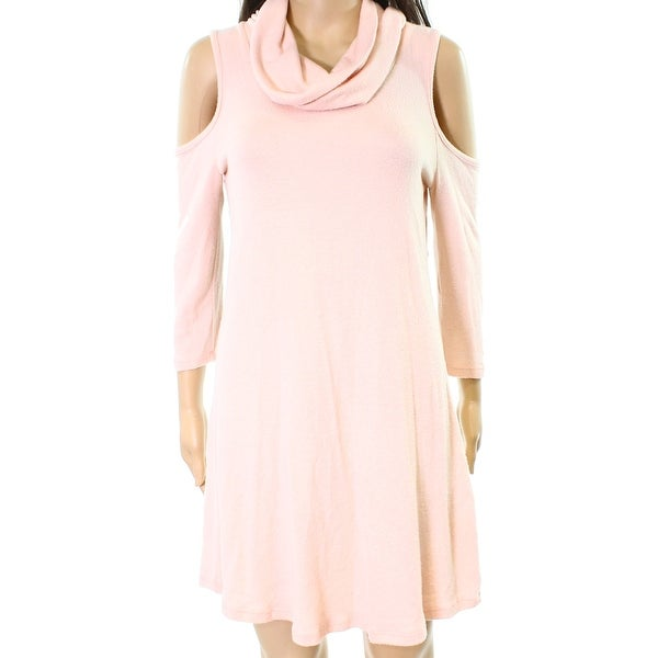 46abf134fd Shop Moa Moa NEW Pink Womens Medium M Cold-Shoulder Cowl Neck Sweater Dress  - Free Shipping On Orders Over  45 - Overstock - 20411377