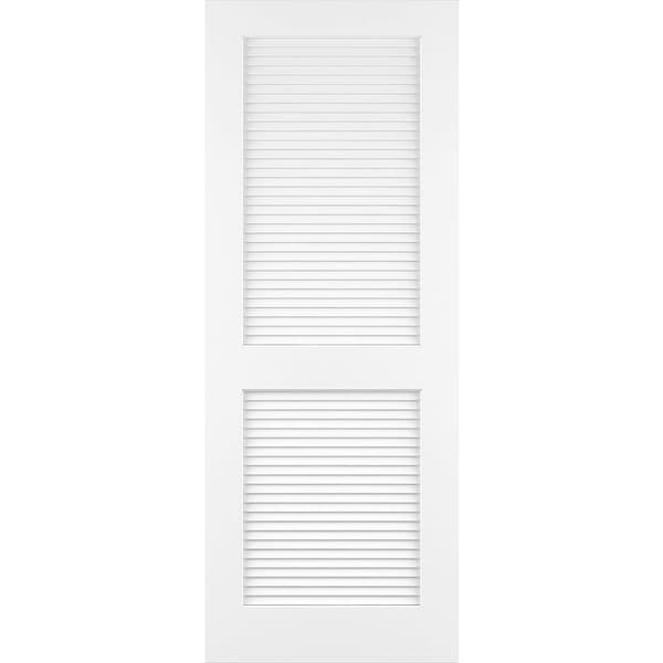 "Frameport CLS-PD-L-6-2/3X2-1/2 Classic 30"" by 80"" Louver/Louver Interior Slab Passage Door"