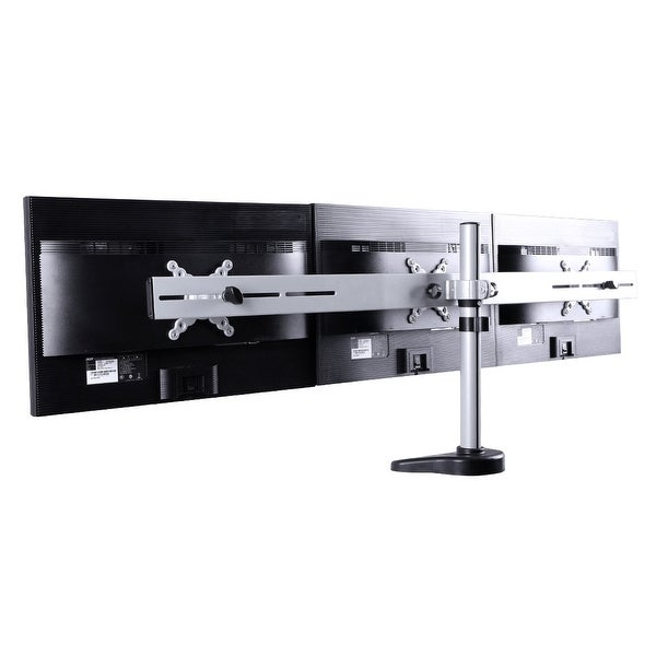 "FLEXIMOUNTS M15 Triple LCD Arm Desk Monitor Mount Stands for 10""-24"" Computer Monitor"