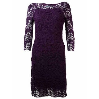 Lauren Ralph Lauren Women's Crochet Lace Overlay Dress