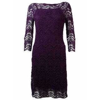 Lauren Ralph Lauren Women's Crochet Lace Overlay Dress