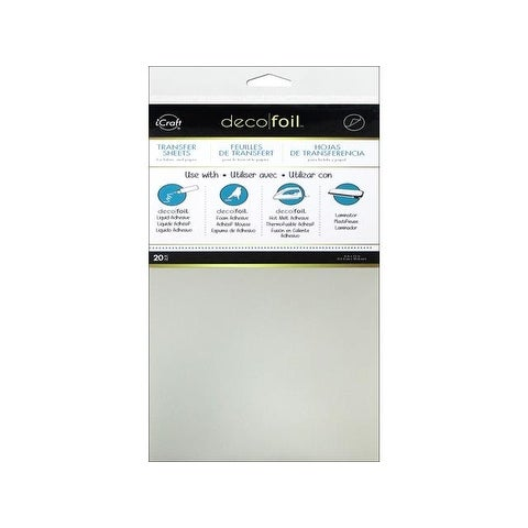 iCraft Deco Foil Transfer 6x12 Tube Silver 20pc