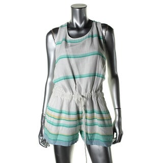 Soft Joie Womens Miri Cotton Striped Romper - XS