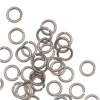 Antiqued Silver Plated Open Jump Rings 4mm 21 Gauge (50)