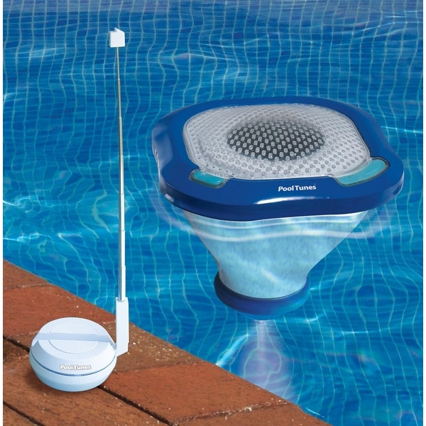 Shop Pool Tunes Wireless Floating Swimming Pool Sound System Light Blue Free Shipping Today