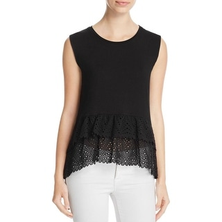 Generation Love Womens Tank Top Tiered Eyelet