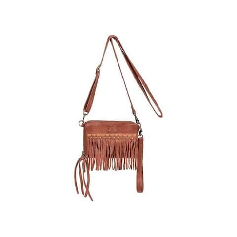 "StS Ranchwear Western Handbag Womens Fringe Package Brown - 7.5"" W x 1.5"" D x 5.5"" H"