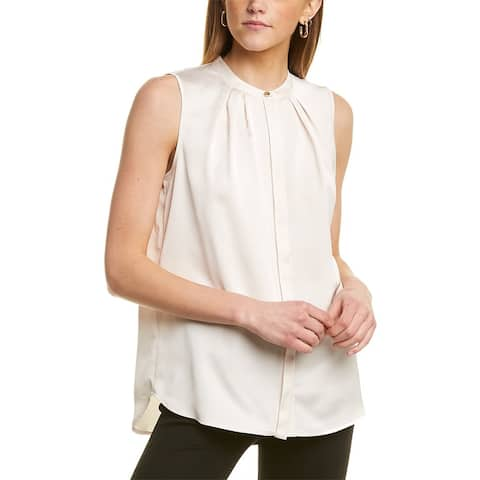Anne Klein Mandarin Collar Blouse