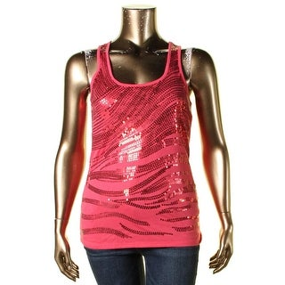 Almost Famous Womens Juniors Tank Top Sequined Sleeveless - XL
