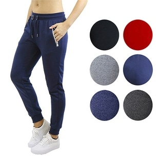 Women's Loose Fitting French Terry Jogger Sweatpants With Zipper Pockets