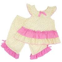 f22b6e009d5a Shop Laura Dare Little Girls Pink Leopard Print Zebra Ruffle 2 Pc ...