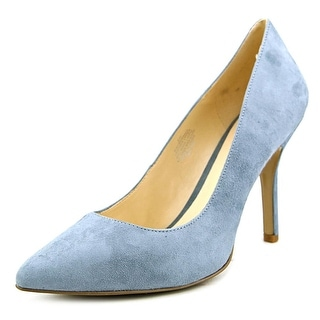 Nine West Shimmer Women W Pointed Toe Suede Blue Heels