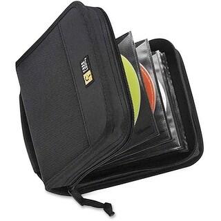 Case Logic CDW-32BLACK Case Logic 32 Capacity CD Wallet - Book Fold - Nylon - Black - 32 CD/DVD
