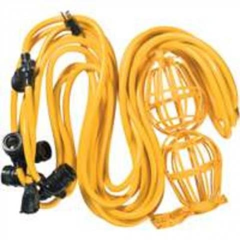 Coleman Cable 075488802 String Light Cord 50', Yellow