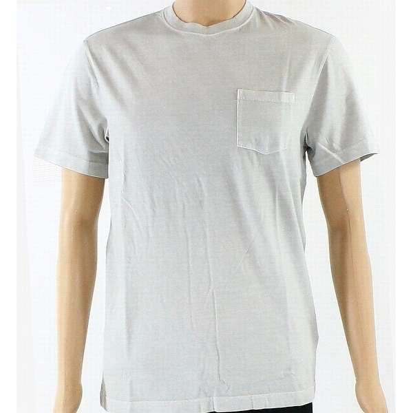 00ac0f54c Shop Club Room Light Mens Small Crewneck Pocket Tee T-Shirt $25 - Free  Shipping On Orders Over $45 - Overstock - 27006341