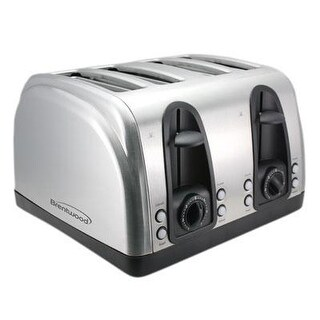 Brentwood - Ts-445S - 4 Stainless Steel Slice Toaster Ss 1500 Watts