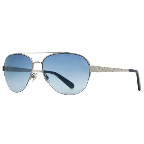 d1c09fd9954 Shop KATE SPADE Aviator KS MARION S Women s 0YB7 A8 Silver Blue ...