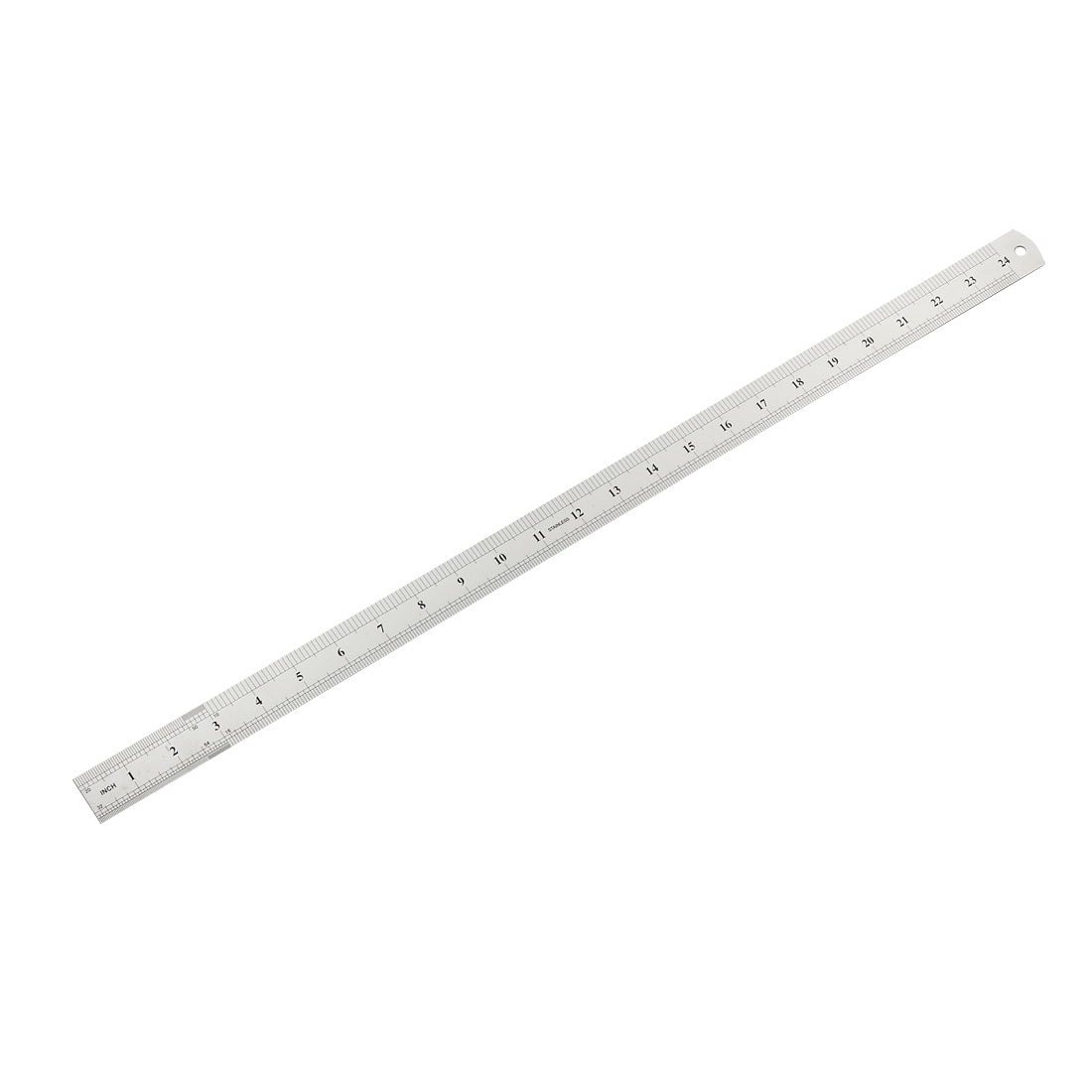 Straight Ruler 20cm 8 Inch Stainless Steel Measuring Tool with Hole 2pcs