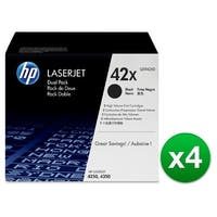 HP 42X Black Original LaserJet Dual Toner Cartridge (Q5942XD)(4-Pack)