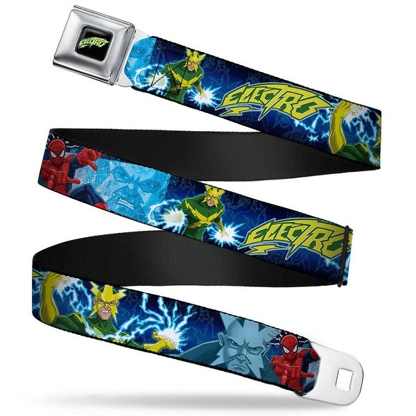 Ultimate Spider Manelectro Full Color Black Green Yellow Electro Electric Seatbelt Belt