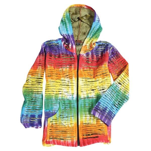 3e97f94f31e0a Unisex Adult Tie Dye Razor Cut Hoodie - Small