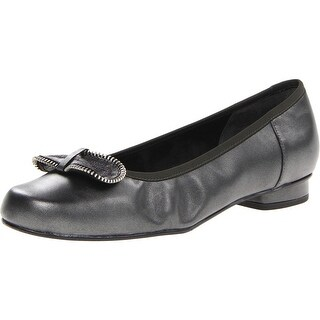 Mark Lemp Womens Leather Casual Round-Toe Shoes - 6 extra wide (e+, ww)