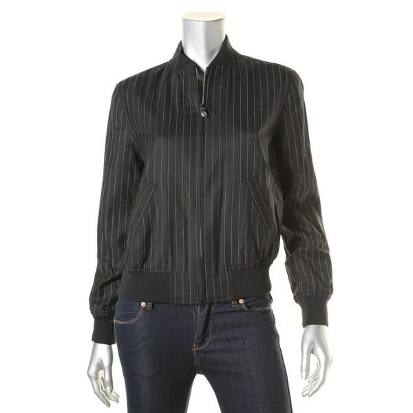 Lauren Ralph Lauren Womens Jacket Wool Pinstripe