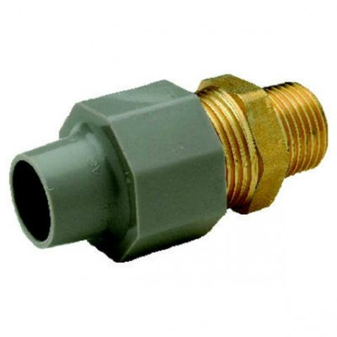 "Zurn QBCA23MNG Compression Coupling Adapter, 3/8"" CTS x 1/2""MPT"