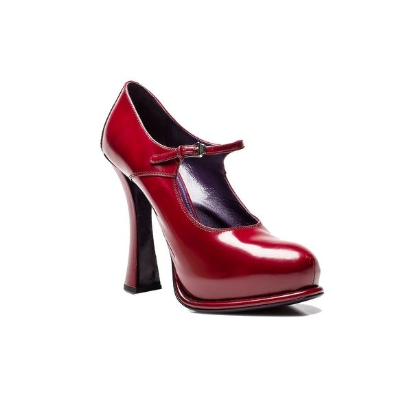 Prada Women's Coated Leather High Heel Shoes Red