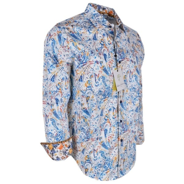 Robert Graham LUPINE Cotton Classic Fit Paisley Sports Shirt