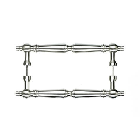 """Top Knobs M730-8pair Asbury Collection 8"""" Center to Center Brushed Satin Nickel Back to Back Door Pull Pair"""