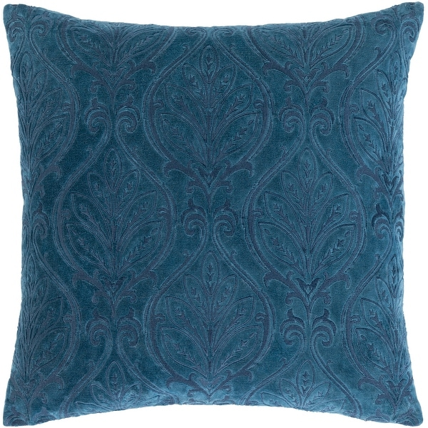 Talan Velvet Damask Embroidered Throw Pillow. Opens flyout.