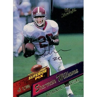 Signed Williams Sherman Alabama Crimson Tide 1995 Superior Pix Limited Edition Football Card autogr