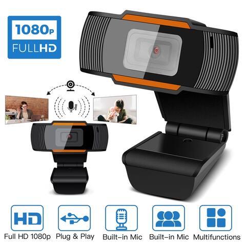 HD 1080P Webcam Auto Focusing Web Camera Cam W/ Microphone For PC Laptop Desktop - M