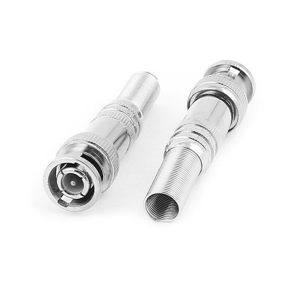 2pcs Spring RF Coaxial RG59 BNC Male Connector Jack Plug Adapter for CCVT Camera