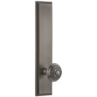 Grandeur CARWIN_TP_SD_NA  Carre Solid Brass Rose Tall Plate Single Dummy Door Knob with Windsor Knob