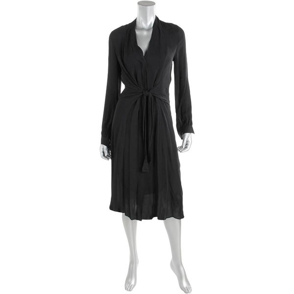 Kobi Halperin Womens Margaux Cocktail Dress Silk Knot Front