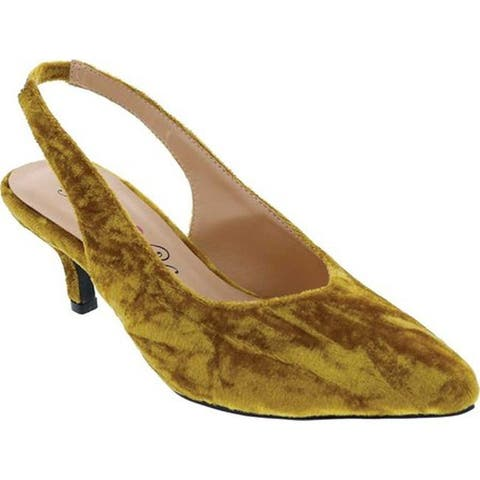 Penny Loves Kenny Women's Dashing Slingback Gold Crushed Velvet