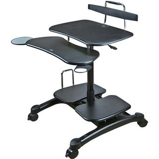 Doublesight Displays Ds 650mc Ergonomic Mbl Desktop Cart Blk