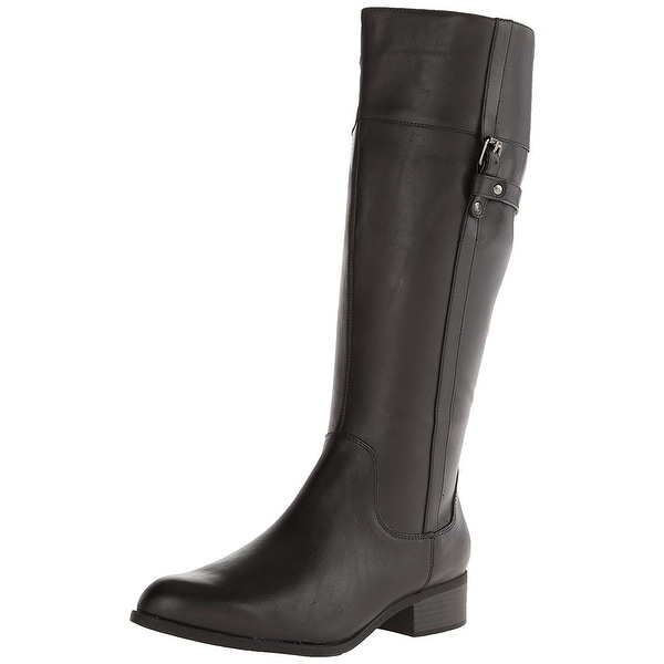 Easy Spirit Womens Domina Leather Closed Toe Knee High Riding Boots