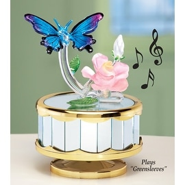 Butterfly and Rose Musical Table Decoration