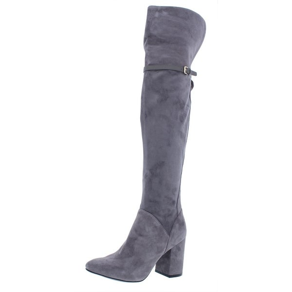 b1a7b50c086 Shop Cole Haan Womens Darcia Over-The-Knee Boots Suede Almond Toe ...