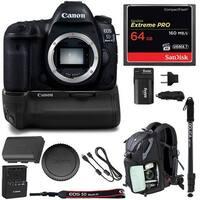 Canon EOS 5D Mark IV DSLR Camera (Body Only) w/ Battery Grip & 64GB Bundle