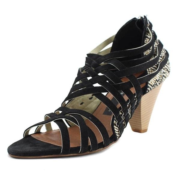 Matt Bernson Kellan Women Open Toe Suede Black Sandals