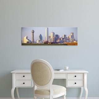 Easy Art Prints Panoramic Images's 'Buildings in a city, Dallas, Texas, USA' Premium Canvas Art