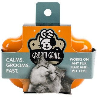 "Multipet Cat Groom Genie 4""-Orange"